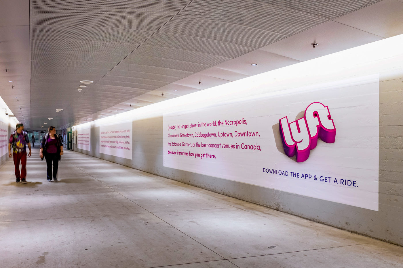 Lyft - App - Union Station - Wall Wrap (Toronto, Ontario)