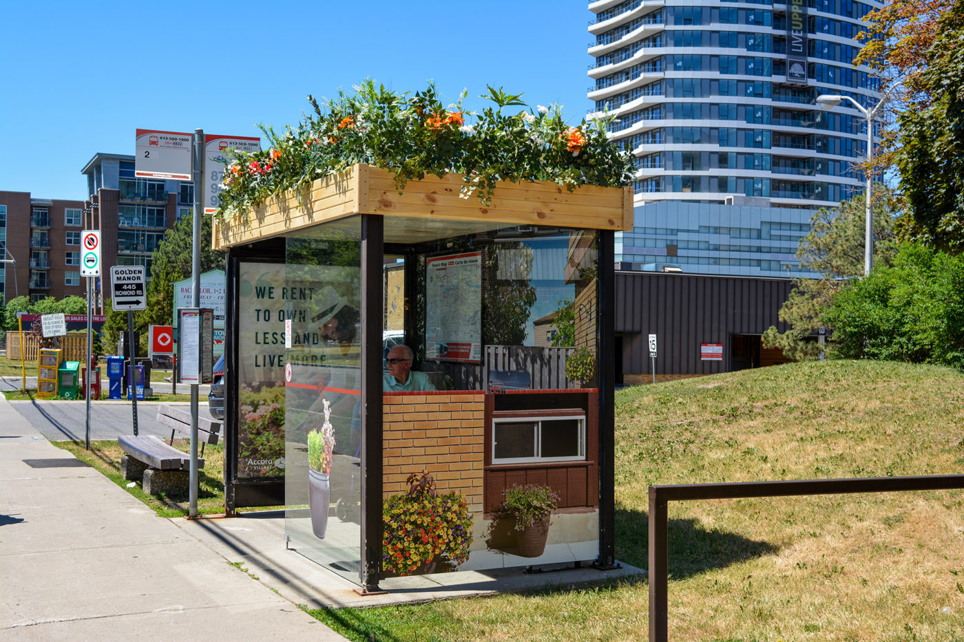 Accora Village - Street Furniture - Decorative Transit Shelter (Ottawa, Ontario)