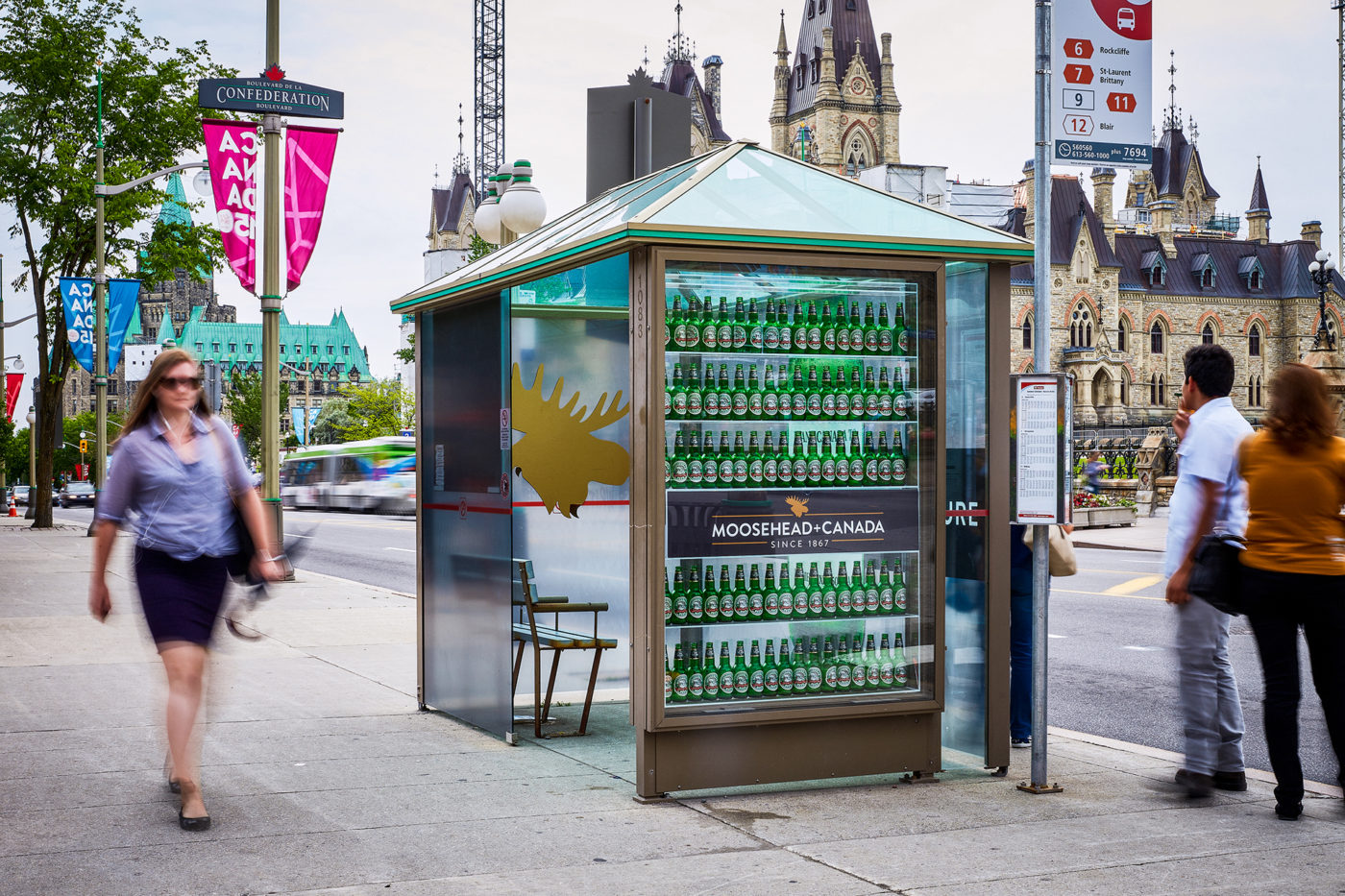 Moosehead - Street Furniture - Decorative Transit Shelter (Ottawa, Ontario)