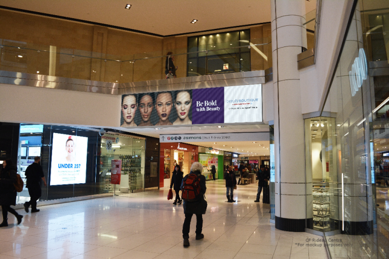 CF Rideau Centre mall digital spectacular advertising