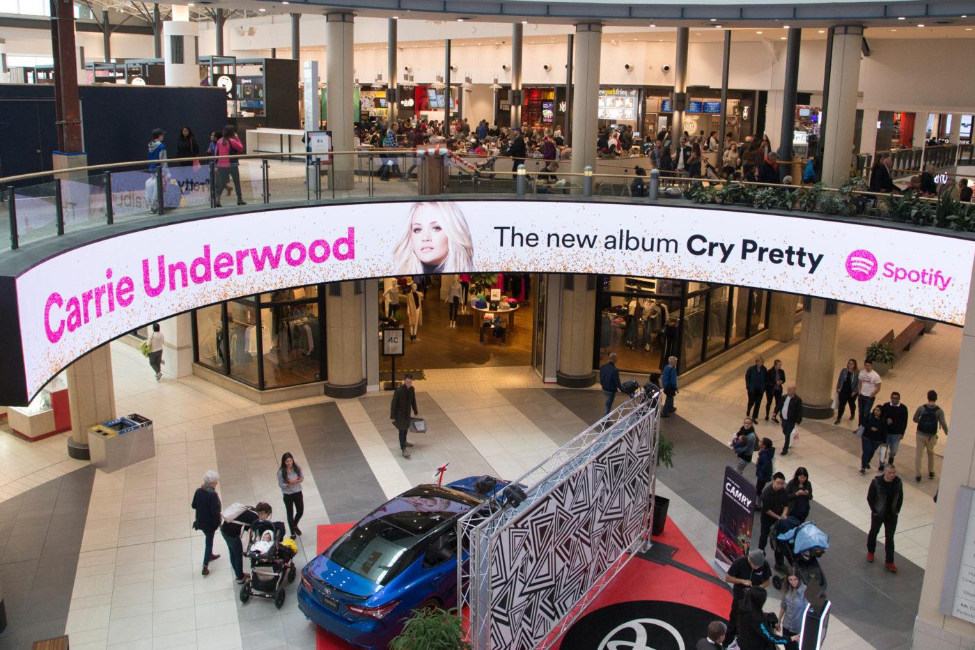 Spotify - Carrie Underwood - Malls - CF Chinook Centre - Digital Rotunda (Calgary, Alberta)