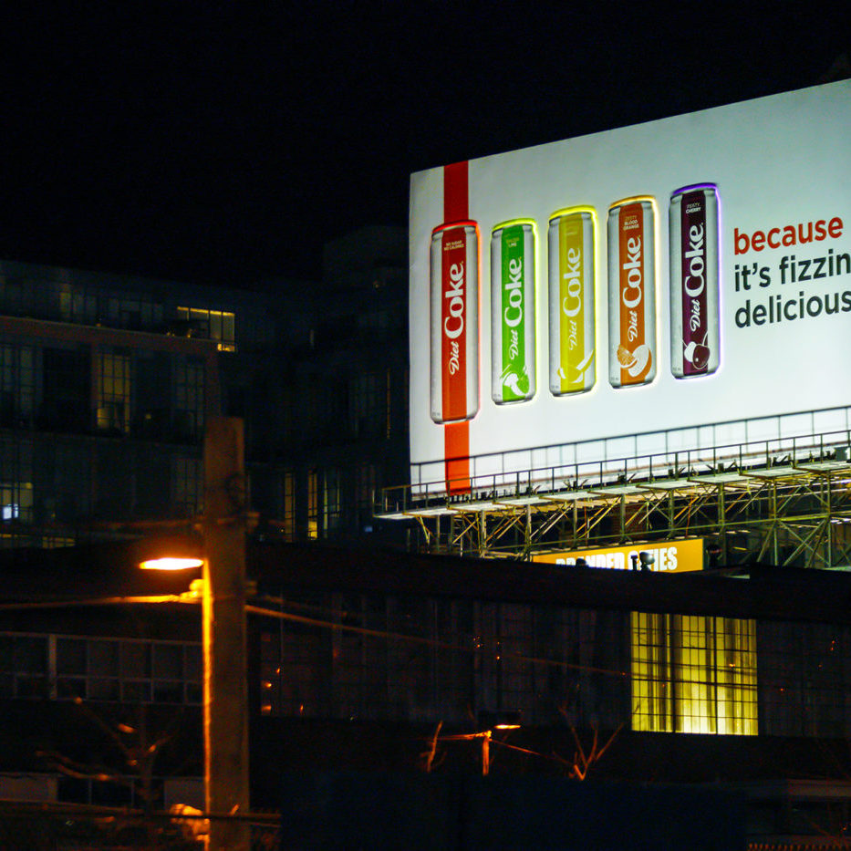 Diet Coke - Because - Spectaculars - GEW 1080 (Toronto, Ontario)