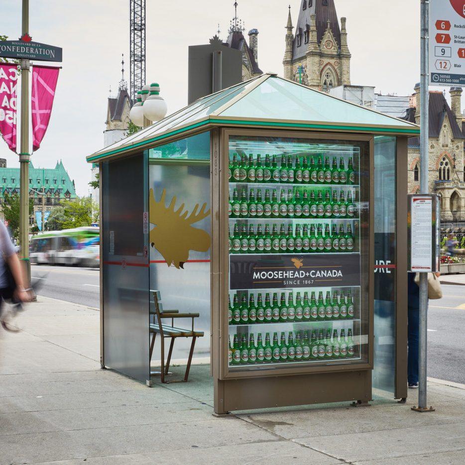 Moosehead Canada - Street Furniture - Decorative Transit Shelter (Ottawa, Ontario)