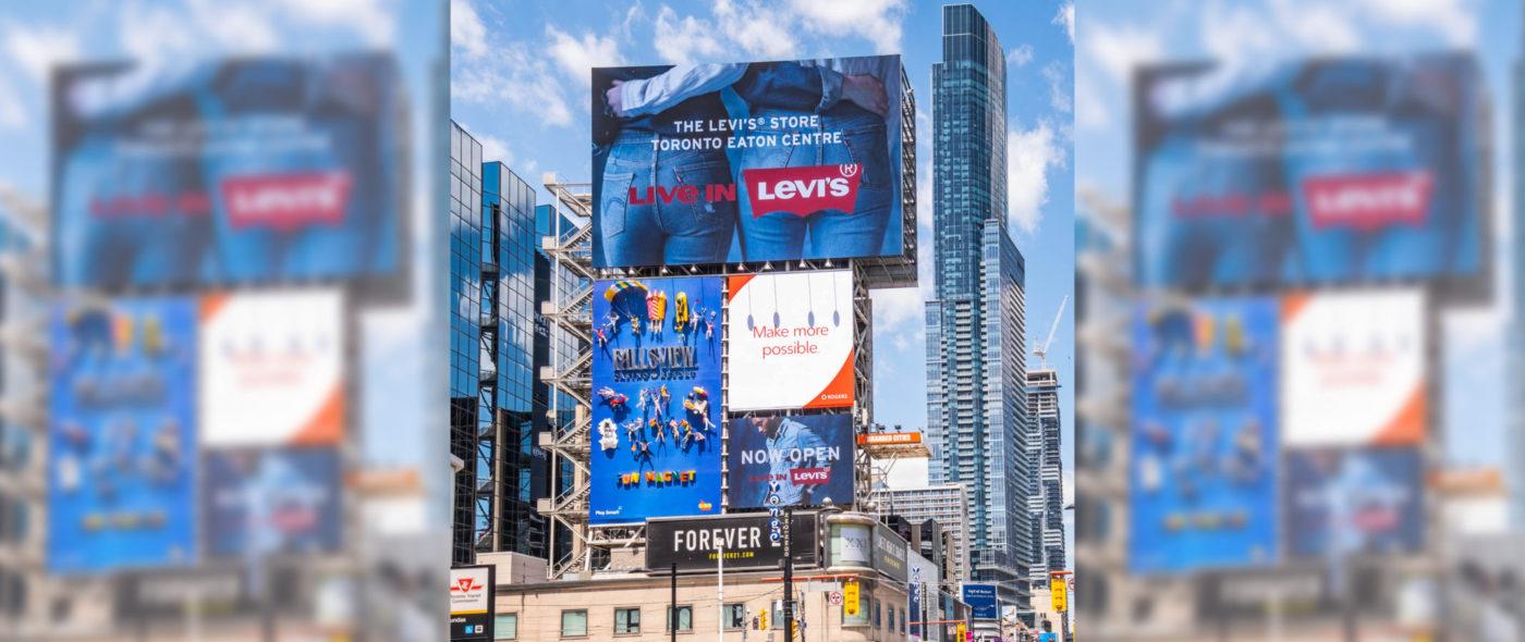 Levis - Yonge-Dundas Square - AOB Media Tower (Toronto, Ontario)