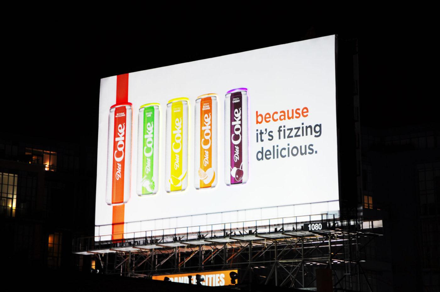 Diet Coke - Fizzing Delicious - Spectaculars - GEW 1080 (Toronto, Ontario)